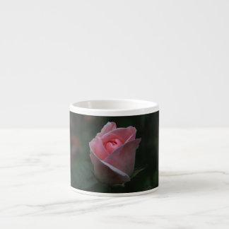 Pink rosebud espresso cup