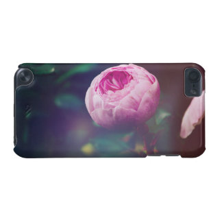 Pink Rosebud, Glowing Blue, Floral Photograph iPod Touch (5th Generation) Cover