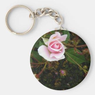 Pink Rosebud Keychains