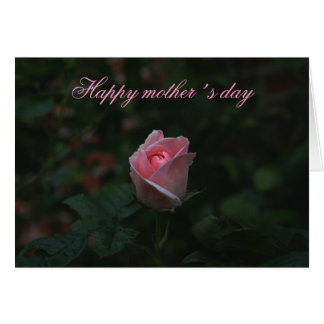 Pink rosebud mother´s day greeting card