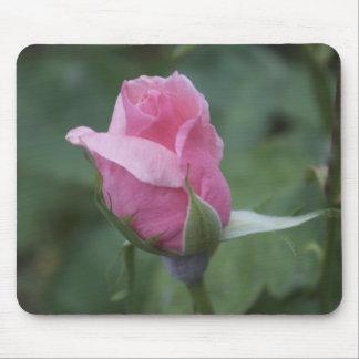Pink Rosebud Mouse Pad