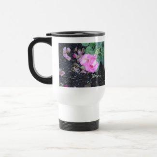 Pink rosebud mug