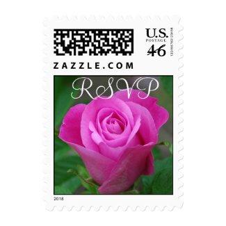 Pink Rosebud RSVP Small stamp