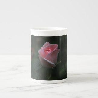 Pink rosebud tea cup