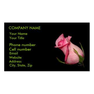 Pink Rosebud (Tilted) Double-Sided Standard Business Cards (Pack Of 100)