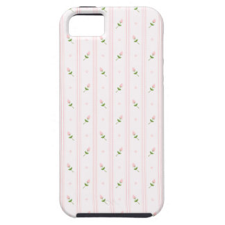 Pink Rosebuds and Stripes iPhone 5 Cases