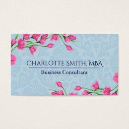 Mba business cards templates zazzle pink rosebuds garden design business card colourmoves