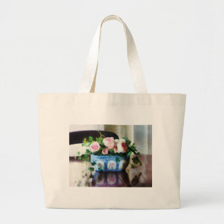 Pink Roses and Ivy Jumbo Tote Bag