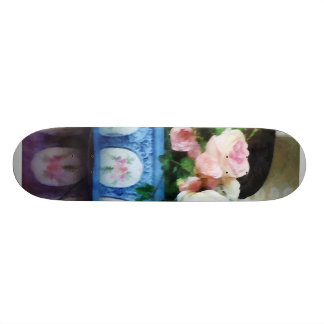 Pink Roses and Ivy Skateboard Deck