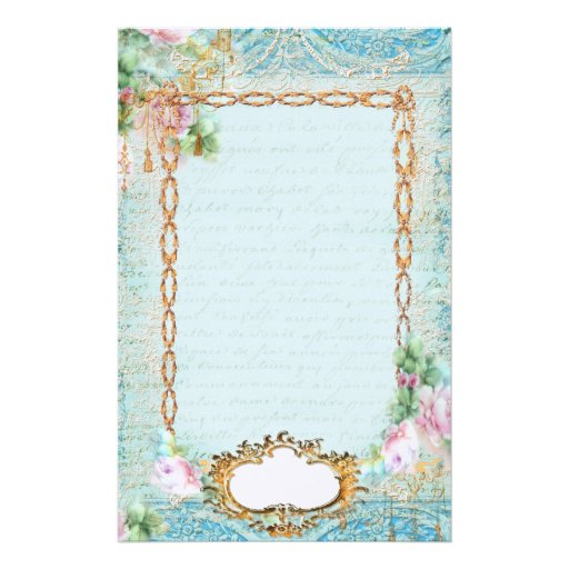 Pink Roses and Lace Stationery and Notes