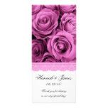 PINK ROSES and PINK LACE Wedding Program v2 Custom Rack Cards