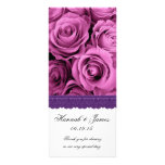 PINK ROSES and PURPLE LACE Wedding Program v2 Full Color Rack Card
