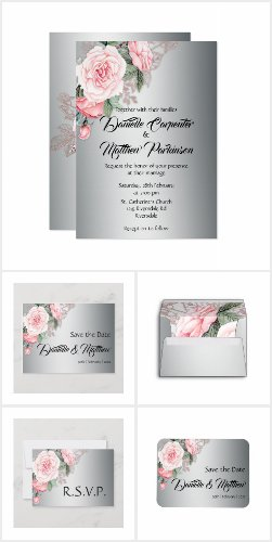 Pink Roses and Silver Wedding