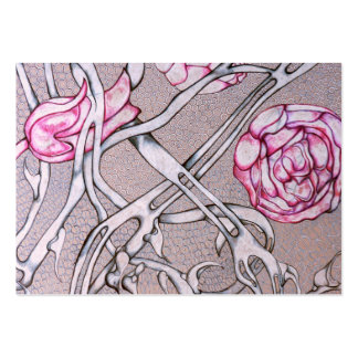 Pink Roses and Thorns. Business Card Templates