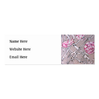 Pink Roses and Thorns. Business Card Template