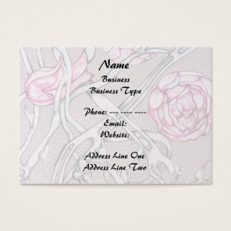 Pink Roses and Thorns. Business Card