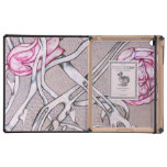 Pink Roses and Thorns. iPad Folio Case