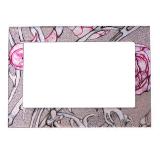 Pink Roses and Thorns. Magnetic Picture Frames