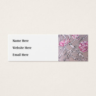 Pink Roses and Thorns. Mini Business Card