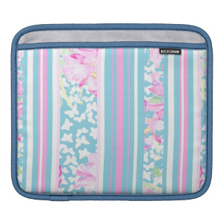Pink Roses and Turquoise Stripes: iPad Sleeve