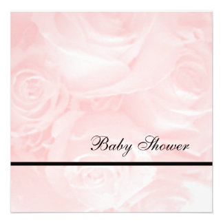 Pink Roses-Baby Shower Personalized Invites