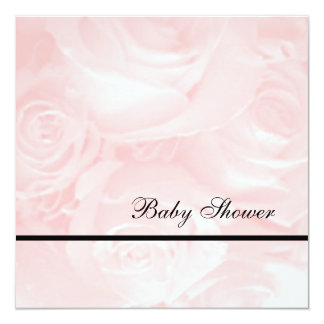 Pink Roses-Baby Shower Invitation