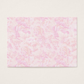 Pink Roses Background Business Card