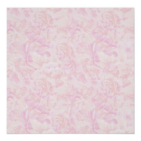 Pink Roses Background Poster