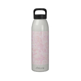 Pink Roses Background Reusable Water Bottle