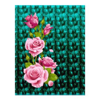 Pink Roses Basic Letterhead
