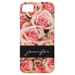 Pink Roses & Black, Personalized iPhone Case iPhone 5 Cover