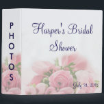 "Pink Roses Bouquet Bridal Shower Photo Album 3 Ring Binder<br><div class=""desc""></div>"