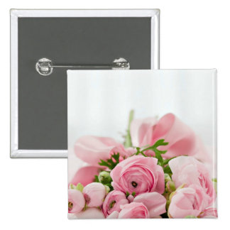 Pink Roses Bouquet Pin