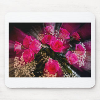 Pink Roses Bouquet Explosion Mouse Pad
