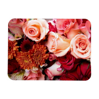 Pink Roses Bouquet Flowers Magnet