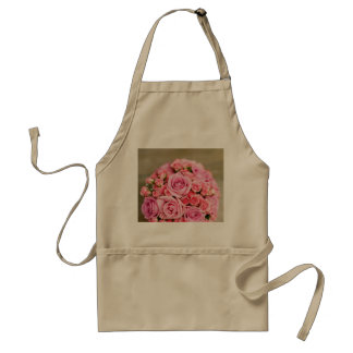 Pink Roses Bridal Bouquet Adult Apron
