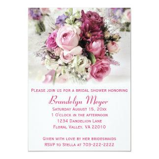 Pink Roses Bridal Shower Invitation