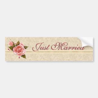 Pink Roses Bumper Sticker