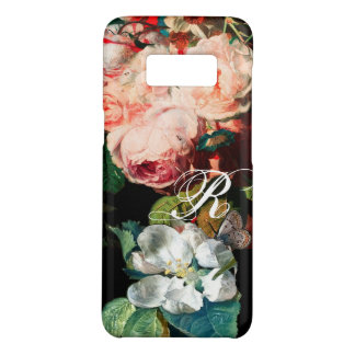 PINK ROSES,BUTTERFLY,WHITE FLOWER FLORAL MONOGRAM Case-Mate SAMSUNG GALAXY S8 CASE