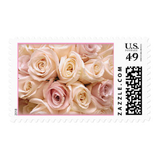 PINK  ROSES by SHARON SHARPE Postage