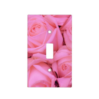 Pink roses by Therosegarden Light Switch Cover