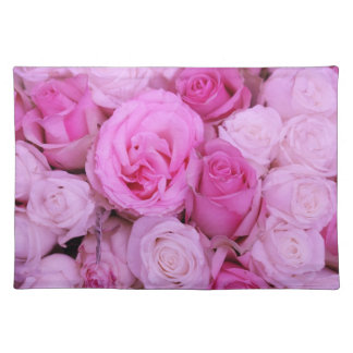 Pink roses by Therosegarden Placemat