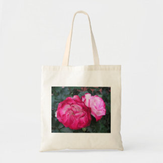 Pink Roses Canvas Bag