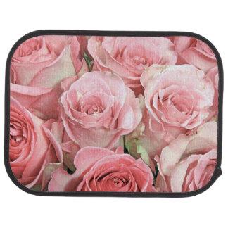 Pink Roses Car Mats