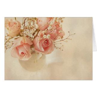 Pink Roses Card