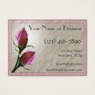 Pink Roses Card Template