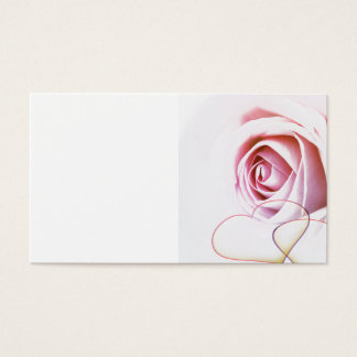 PINK ROSES CHOCOLATE HEARTS LOVE ANNIVERSARY PRESE BUSINESS CARD