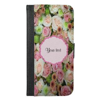 Pink  Roses & Chrysanthemums iPhone 6/6s Plus Wallet Case