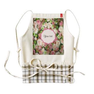Pink  Roses & Chrysanthemums Zazzle HEART Apron