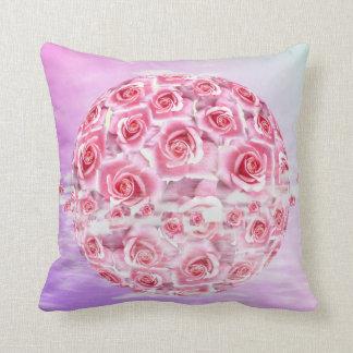 Pink Roses Circle Pillow